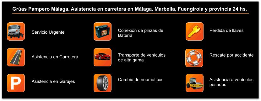 Servicio de Grúa y asistencia en carretera en Málaga y provincia las 24 hs.