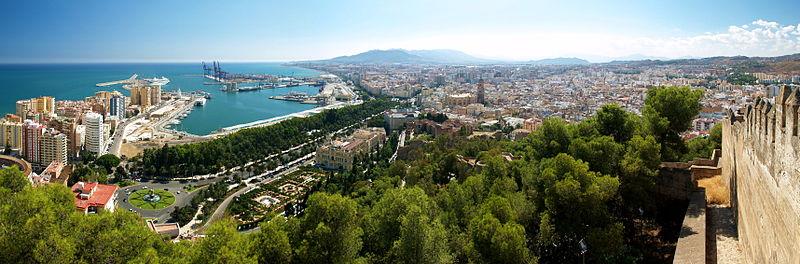 Málaga vista panorámica de Málaga por Grúas Pampero Málaga